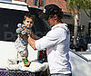 Photo of Levi and Matthew McConaughey Going to Babies R Us in LA