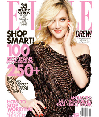 Drew Barrymore in Elle Magazine