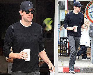 Photos of John Krasinski Leaving La Conversation in LA