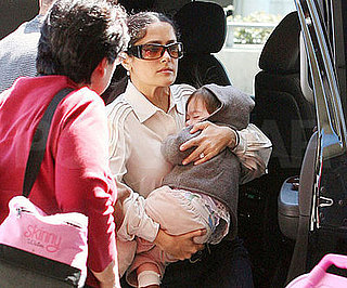 Photo of Salma Hayek and Valentina Pinault at LAX