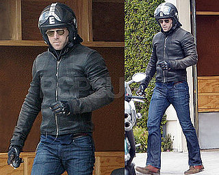 Photos of Ryan Reynolds Getting Ready to Ride His Motorcycle in LA