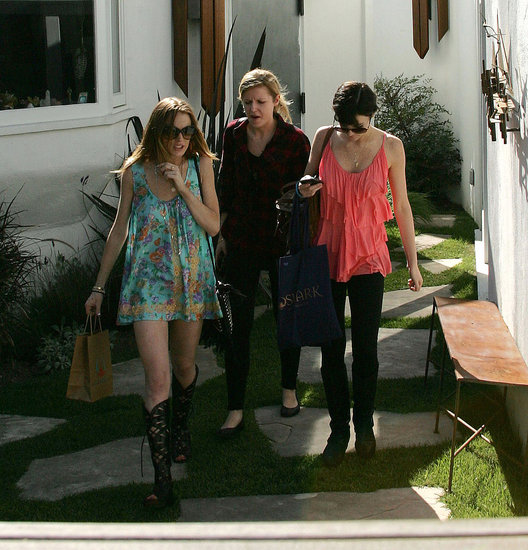 Lindsay and Ali Lohan in LA