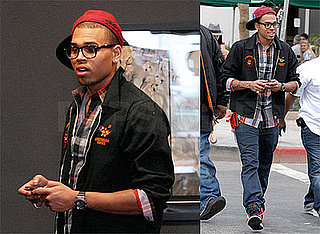 Photos of Chris Brown, Who Denied He's Dating His Ex or Natalie Mejia, Saw Rihanna Over Easter Weekend