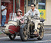 Photo of Johnny Depp on the set of The Rum Diary in Puerto Rico