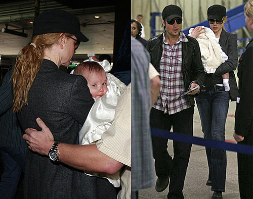 Photos of Nicole Kidman and Keith Urban at LAX with Baby Sunday