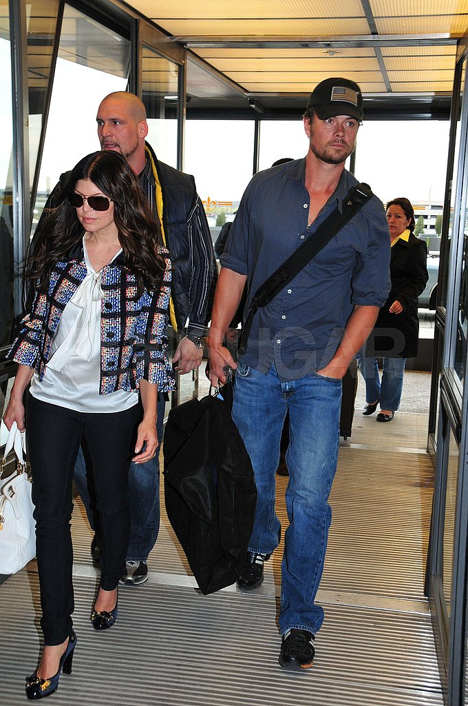 Fergie and Josh Land at LAX
