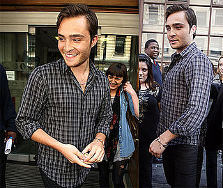 Photos of Ed Westwick Leaving BBC Radio One in London