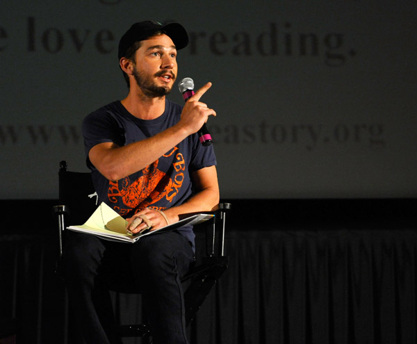 Shia Reads to the Kids