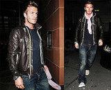 David Beckham With Pink Scarf