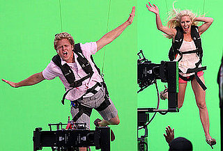Photos of Almost Married Heidi Montag and Spencer Pratt Filming a Promo for I'm A Celebrity, Get Me Out of Here