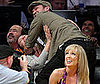 Photo of Justin Timberlake and Jessica Biel Acting Cute at the Lakers Game