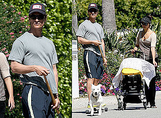 Photos of Matthew McConaughey, Camila Alves, Levi McConaughey Taking a Walk in LA