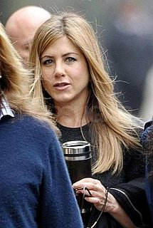 Photos of Jennifer Aniston in a Red Dress on the Set of The Baster in NYC
