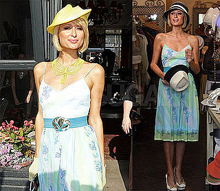 Photos of Paris Hilton Shopping for Hats in LA