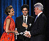 Photo of Jessica Alba, Adrian Grenier, and Bill Clinton at the Clinton Foundation's Millennium Network Event