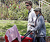 Photo of Alyson Hannigan and Alexis Denisof with Baby Satyana in LA