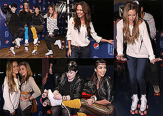 Photos of Lauren Conrad, Kim Kardashian, Vanessa Minnillo at the Pepsi Throwback World of Wheels Roller Skating Party