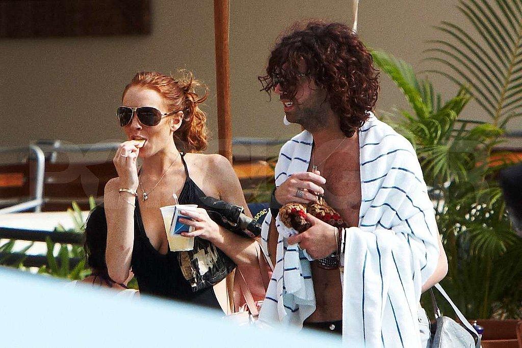 Lindsay Lohan in Bathing Suit in Maui