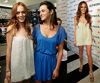 Photos of Lindsay Lohan, Who's Happy to Be in Touch With Samantha Ronson, Promoting Sevin Nyne in LA