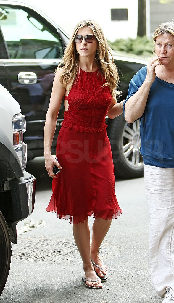 Jennifer Aniston in a Red Dress
