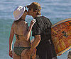 Photo of Julia Roberts and Danny Moder Kissing in Hawaii