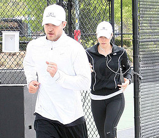 Photos of Justin Timberlake and Jessica Biel Jogging in NYC