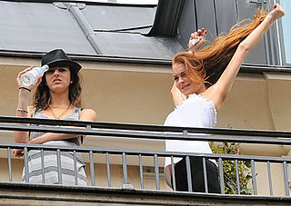 Photos of Lindsay Lohan, Who Thought She Was Robbed, with Sister Ali in Paris