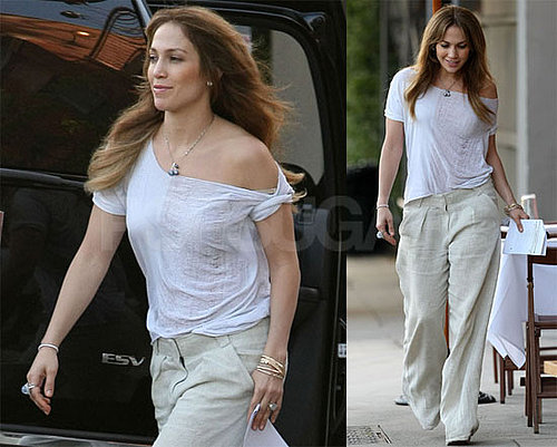 Photos of Jennifer Lopez on Set Of The Back-Up Plan