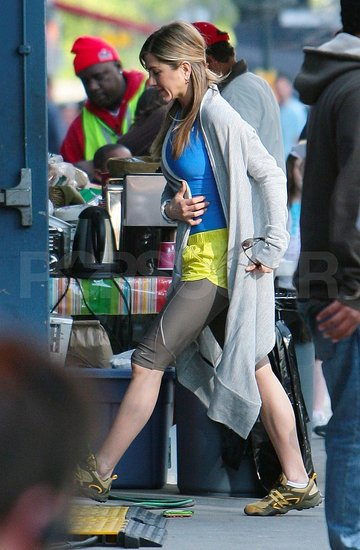 Jen on Set