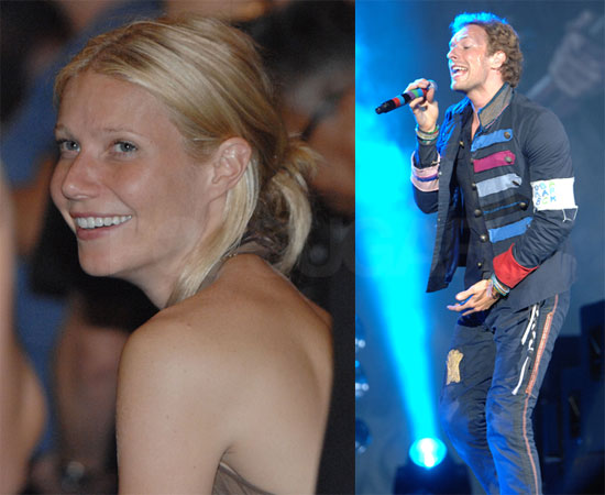 Gwyneth Watches Coldplay