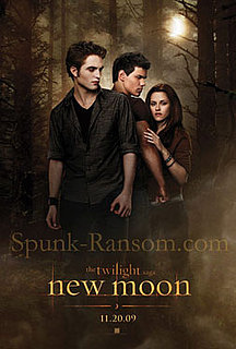 Photo of First Movie Poster For New Moon With Robert Pattinson, Kristen Stewart, Taylor Lautner