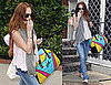 Photos of Lindsay Lohan Leaving Samantha Ronson's House