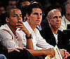 Photo Slide of Tom Cruise and Connor Cruise at the Lakers Game