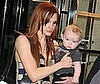 Slide Photo of Ashlee Simpson and Bronx Wentz Leaving Children&#039;s Museum in NYC