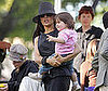 Photo Slide of Salma Hayek Playing With Daughter Valentina Pinault on the Set of Grown Up