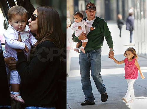 Photos of Matt Damon Walking in NYC With Isabella Damon, Luciana Damon, Gia Damon
