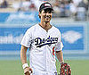 Slide Photo of Matthew McConaughey Throwing Out the First Pitch For the LA Dodgers