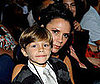 Slide Photo of Victoria Beckham and Romeo Beckham at the American Idol Season Eight Finale