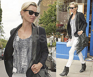Photos of Kate Moss, Who's Launching Another Line For Topshop, Out Getting Sushi in London