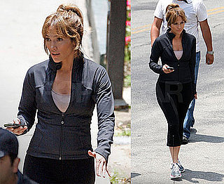 Photos of Jennifer Lopez on the Set of The Back-Up Plan in LA