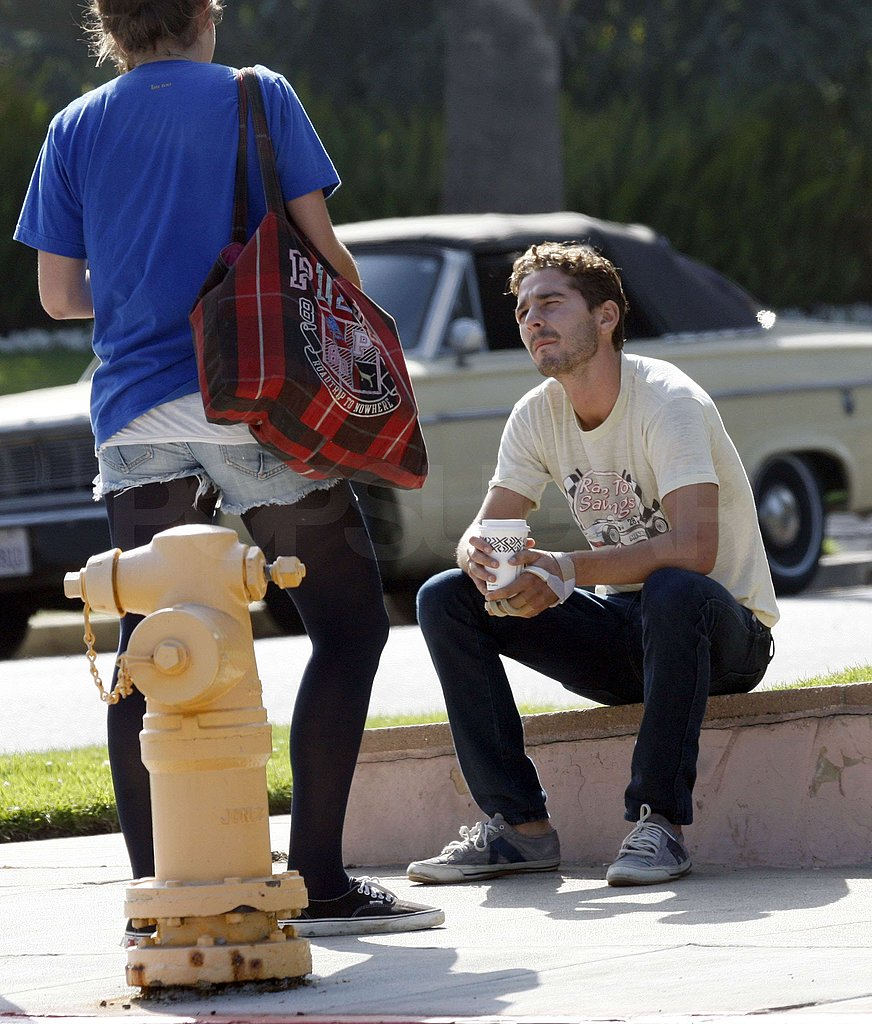 Shia Waits for a Cab