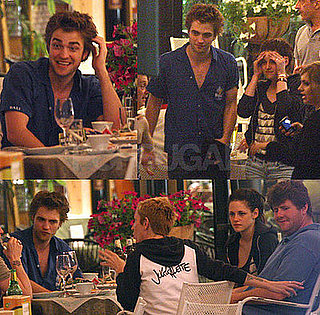 Photos of Robert Pattinson and Kristen Stewart of Twilight Eating Dinner in Montepulciano, Italy