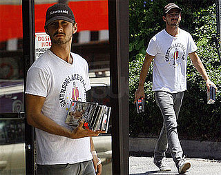 Photos of Shia LaBeouf Buying Used DVDs in LA