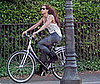 Photo Slide of Beyonce Knowles Riding a Bike in Dublin