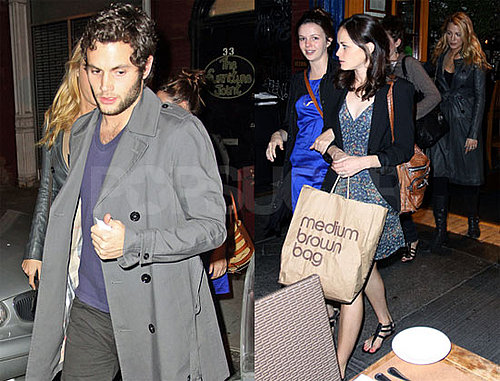 Photos of Penn Badgley at Dinner With Blake Lively, Amber Tamblyn, Alexis Bledel in NYC