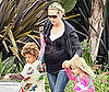 Photo Slide of Pregnant Heidi Klum with Kids Henry and Leni Leaving Pre-School in LA