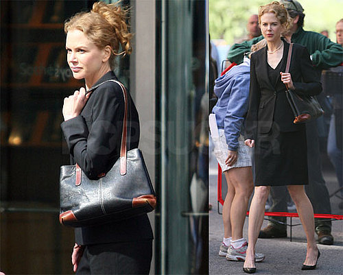 Photos of Nicole Kidman on the Set of Rabbit Hole in Queens