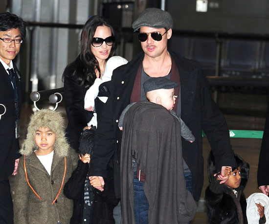 Brad Pitt and Angelina Jolie welcomed twins Knox and Vivienne on July 12, 2008. In January 2009, the little ones went to Japan with the family.