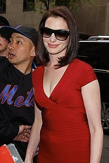 Photos of Anne Hathaway Arriving at Late Night With Jimmy Fallon