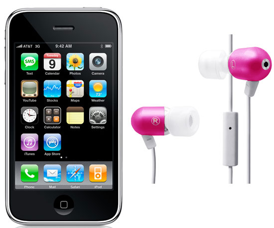 iPhone and Radius Atomic Earphones